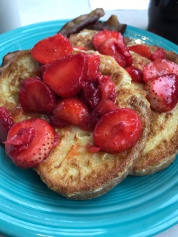 Strawberry french toast at Pamela's