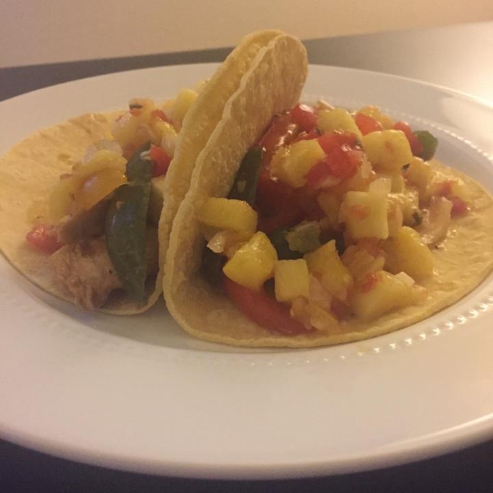 Hawaiian Chicken Tacos