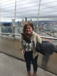 It's a little windy at the top of the space needle...