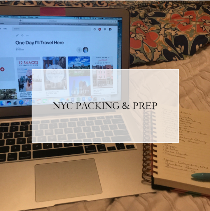 New York Trip, Part 2: Packing and Preparation