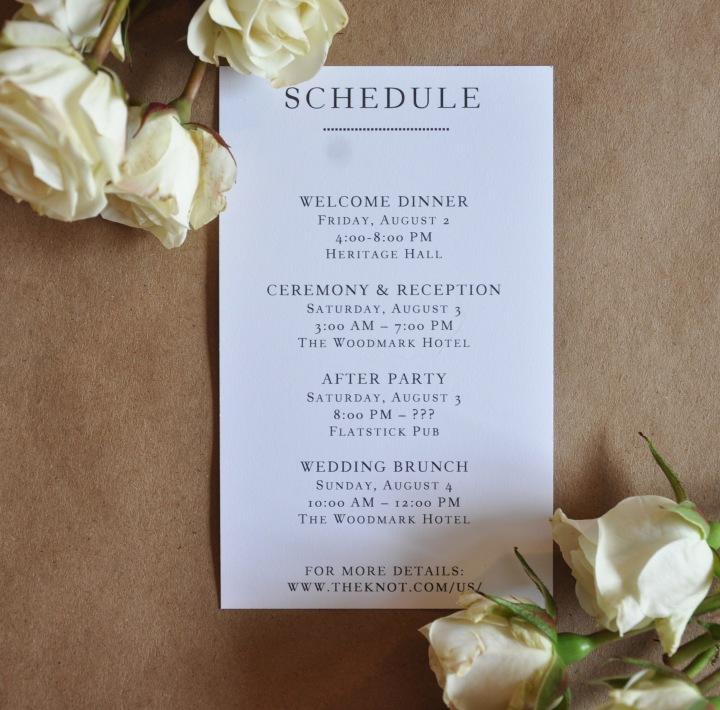 Schedule Card