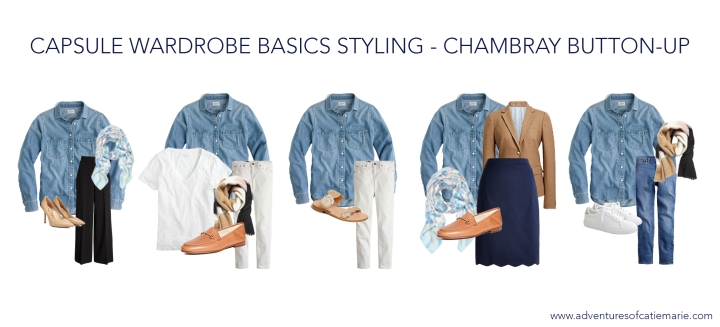 Capsule Basics Styling Graphic - Chambray Button-Up