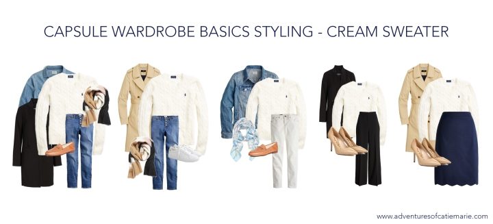 Capsule Basics Styling Graphic - Cream Sweater