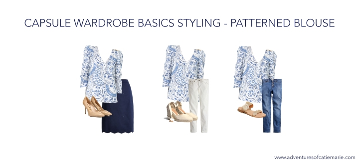 Capsule Basics Styling Graphic - Patterned Blouse