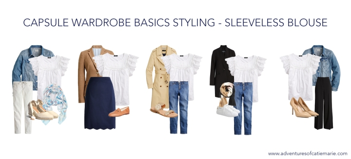 Capsule Basics Styling Graphic - Sleeveless Blouse