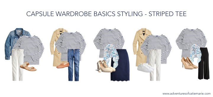 Capsule Basics Styling Graphic - Striped Tee