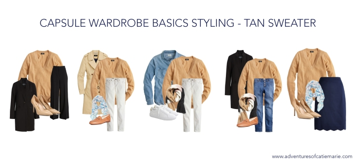Capsule Basics Styling Graphic - Tan Sweater