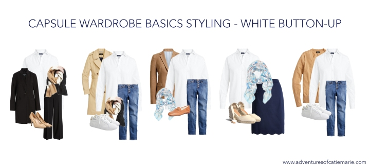 Capsule Basics Styling Graphic - White Button-Up