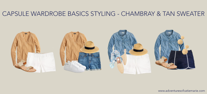 Summer Additions - Chambray Tan Graphic